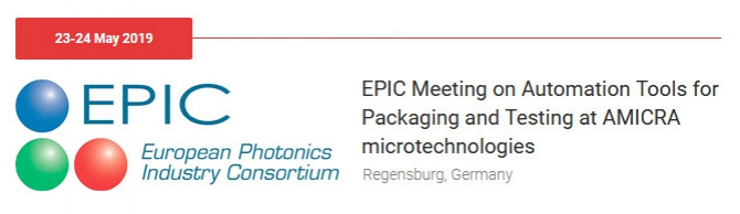 AMICRA to host EPIC Meeting on Automation Tools for Packaging and Testing at Headquarters